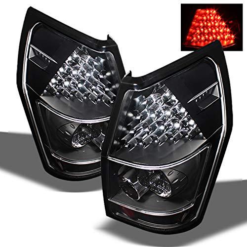 For Dodge Magnum Black Bezel LED Tail Lights Rear Brake Replacement Lamps Left+Right