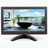 9 inch HD CCTV Security Surveillance Monitor with 1024x600 Resolution Support HDMI Input 16:9 Built-in Dual Speakers PC/BNC/VGA/AV/HDMI/USB