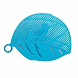 GOOTRADES Leaf Shaped Rice Wash Sieve Beans Vegetable Fruits Clean Clip Noodle Filter Strainers (Blue)