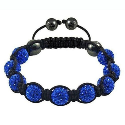 - AMR Collection Shamballa Bracelet Navy Royal Blue Pave Crystals