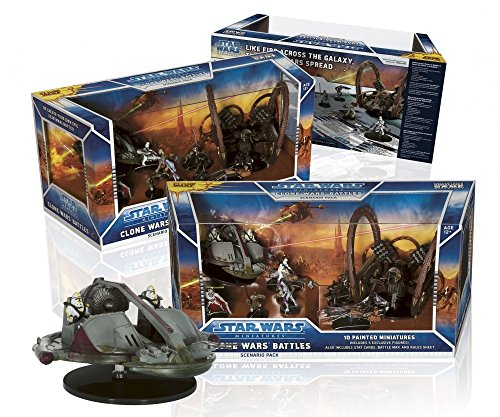 (WOTC Star Wars Clone Wars Battles Scenario Pack Ultimate Miniatures Set)