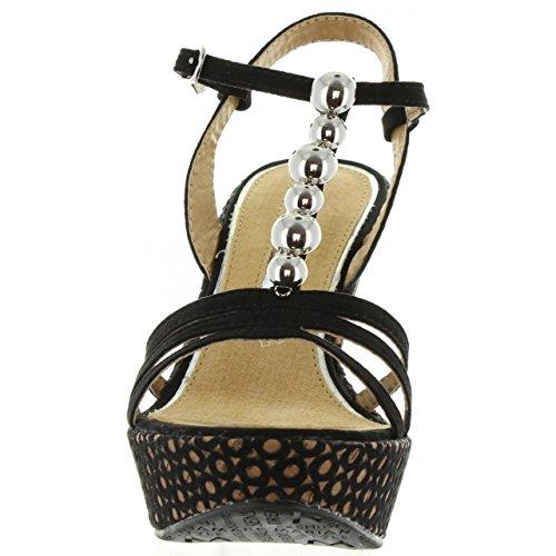 41 Sandales Maria 66339 Mare pour Negro Taille Femme SUEDI C25627 pvvz6nqBx