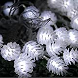 Excessive Modern Pine Cone 10M LED Nightlight String Lamp Illuminations Xmas Tree Color White 110V with US Plug