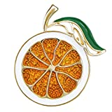 DMI Summer Holiday Gold-Tone Lovely Orange Brooch Art Deco Accessories