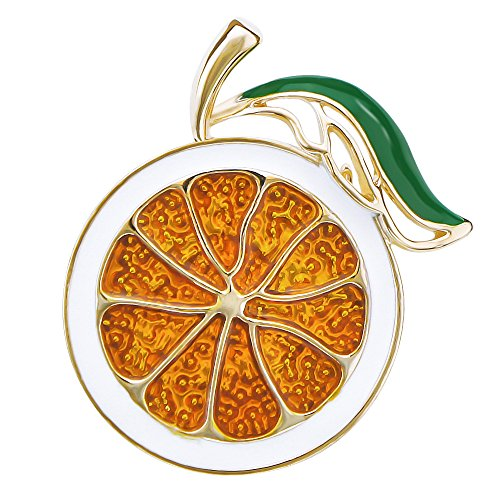 DMI Summer Holiday Gold-Tone Lovely Orange Brooch Art Deco Accessories by DMI (Image #3)