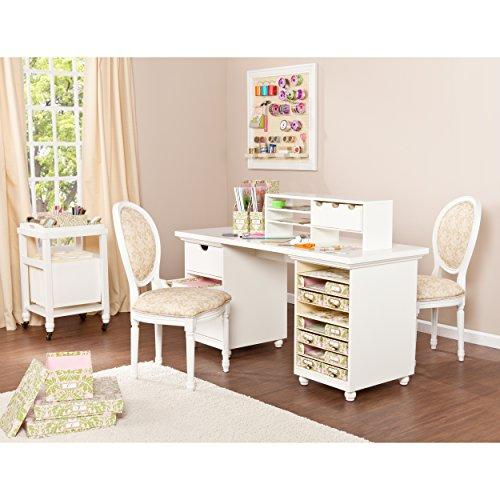 Anna Griffin HZ4924 Craft Room Desktop, Antique White, Cream