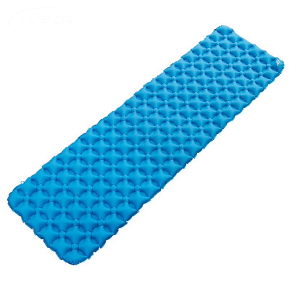 Im Freien aufblasbare Matten, feuchtigkeitsfestes Ultra-Leichtes TPU-Ei-Nestluftkissen, Zelt im Freien, Matte(Blau)