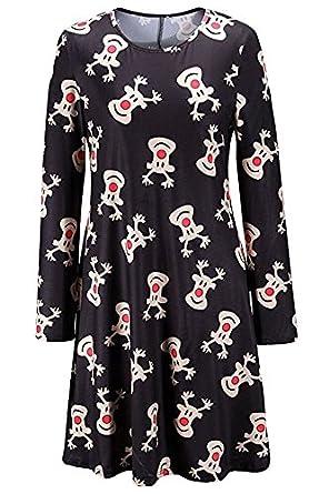 Weihnachten Kleid, iPretty Damen Kleid Mädchen Mutter und Tochter ...