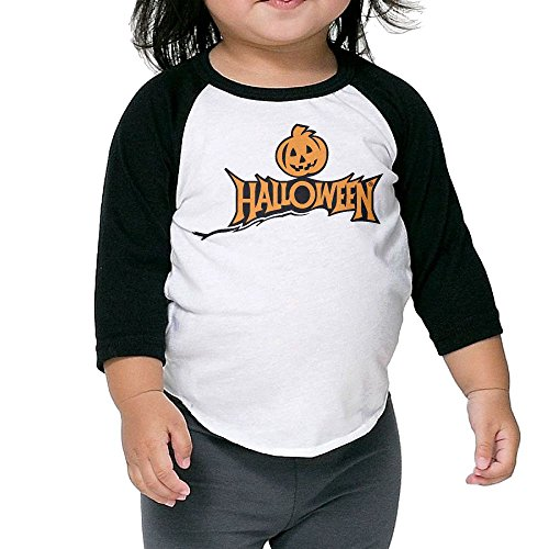 Halloween Kid's Sleeve Raglan Clothes Unisex 3 Toddler (Hockey Masker Halloween)
