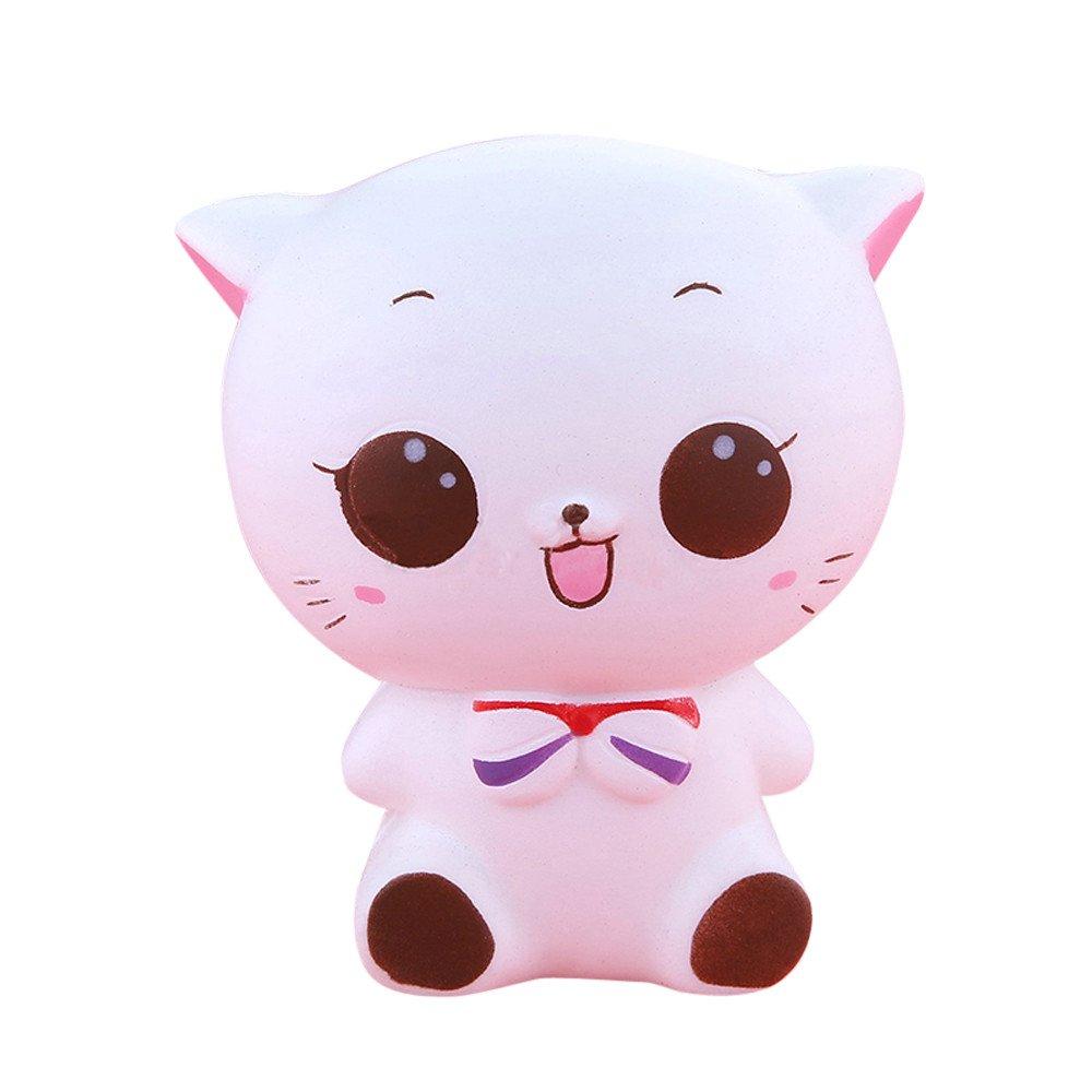 Bescita Kitty Cat Puppe Langsam Steigenden Stressabbau Spielzeug (11.5 * 10 cm)