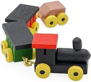 1:12 Dollhouse Miniature Nursery Kid/'s Toy Wooden Train Locomotive Christmas