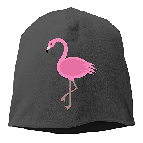 - YUVIA Pink Flamingos Men's&Women's Patch Beanie GolfBlack Caps For Autumn And Winter