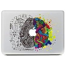 "eDesign Left Right Brain Removable Vinyl Decal Stickers Skin for Apple MacBook Pro Air Mac 13""/Retina 13.3""/Unibody 13"" Laptop (eDesign 1)"