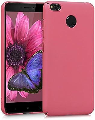 kwmobile Funda para Xiaomi Redmi 4X - Carcasa Protectora [Dura] para móvil - Case Trasero [Duro] en [Fucsia Mate]