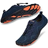 hiitave Men Water Shoes Barefoot Beach Aqua Socks Quick Dry for Outdoor Sport Hiking Swiming Surfing Navy 10.5/11 M US Men