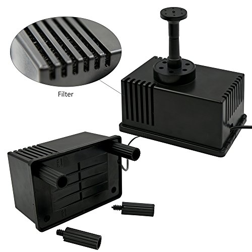 Ankway solar water pump kit 1 5w with filter solar power for Solar pond filter