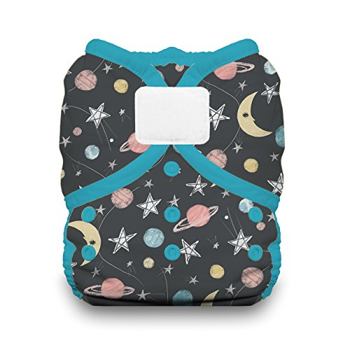 Thirsties Duo Wrap Cloth Diaper Cover, Hook and Loop Closure, Stargazer Size Two (18-40 lbs)