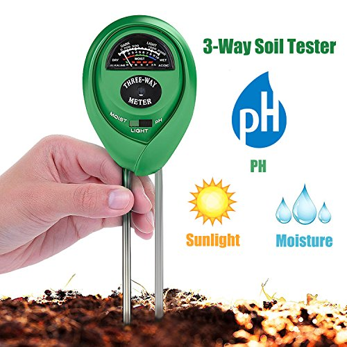 Purchase Soil Tester 3-in-1 Moisture Light PH Meter Multifunctional Soil Acidity Test Kit, Best Probe Tester for Home And Garden, Lawn, Farm, Plants, Herbs & Gardening Tools, Indoor/Outdoors Plant Care
