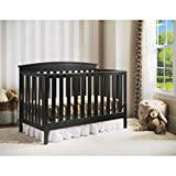 4-in-1 Convertible Baby Crib with a Kid-friendly Design That Grows with Your Baby. The Delta Children's Baby Crib Converts Into a Toddler Bed, a Daybed and a Full-size Bed with Headboard. Fixed-side Crib, Choose Your Finish. 100% Comfort Guaranteed! (Black) by Delta Children