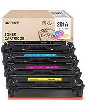 ZIPRINT 4 Multipack Compatible HP 201A HP CF400A CF401A CF402A CF403A Toner pour HP Color Laserjet M252 252n 252dn 252dw M277n M277dw
