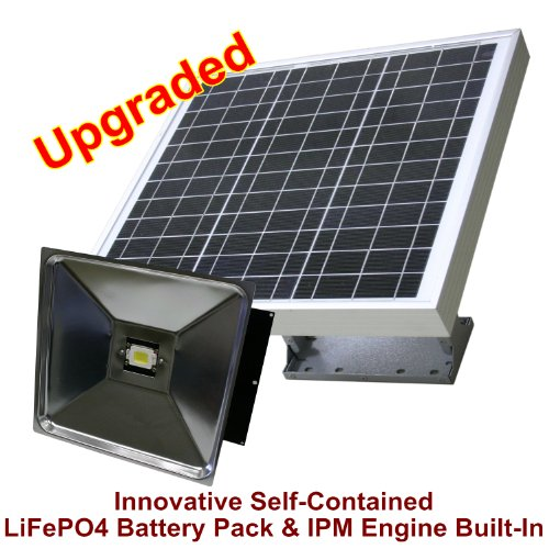 Solar Powered Energy Efficient 15W LED Ultra-Powerful Commercial Lighting Fixture for Building, Parking lots, Street Illumination as Retrofit Replacement Kits for Outdated HID Lights, eLEDing by EESGI
