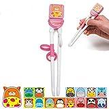 SZHOWORLD Learning & Training Chopsticks for Children Baby Intelligent Practice Chopsticks(6 Colors, 14 Animals) (Cat)