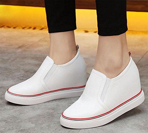 individuales ms 7 5 UK4 establecer zapatos zapatos de US6 5 del los zapatos 5 del pie de CN37 casuales Sra primavera otoño cuero EU37 Sra elevador y Twq1UT