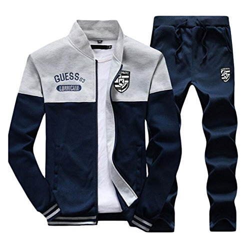 Beloved Men Athletic Full Zip Tracksuit Jogging Sweatsuit Activewear
