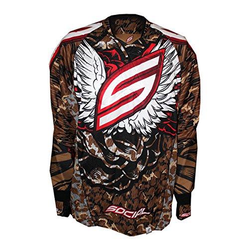 Social Paintball Custom Flex Padded or Unpadded Jersey, Wings Brown Camo -