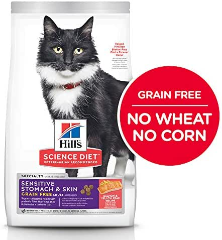 Cat Food: Hill's Science Diet Sensitive Stomach & Skin Grain Free