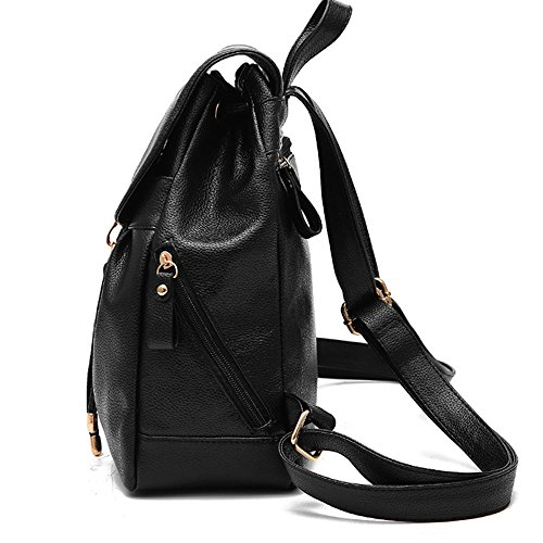 fashion Designer Backpack Girls PU Leather Black and for Shoulder Blue Women Mini Purse with WOZSp