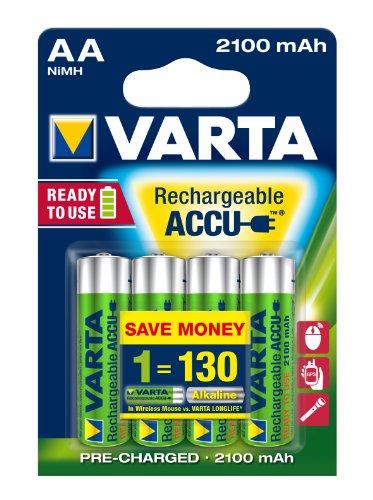 Varta Rechargeable Accu Ready2Use AA Mignon Ni-Mh Akku (4-er Pack. 2100 mAh)