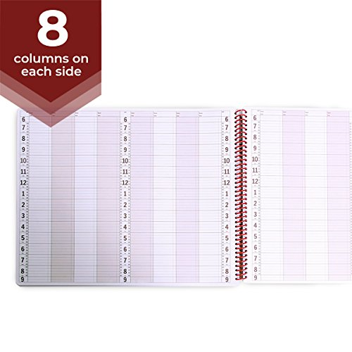 8 Column Undated Appointment Book - Eight Person Daily and Hourly Schedule Notebook for Salons, Massage Spas, Hairdressers, Stylists, and More - 200 Pages ()