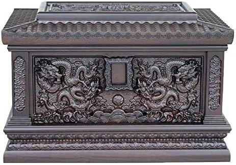灰大人の骨壷 人間の灰大人のための壺 - 手木彫り壺Casketのボックス - 大人の大型フィットの名残り最大360ポンド(13.4x9x9インチ)まで BUYT