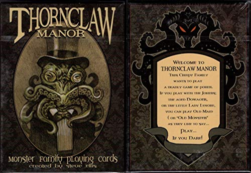 (Thornclaw Manor Monster Family Playing Cards Poker Size Deck Custom Limited)