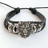 Men's leather bracelet Women's leather bracelet Lion bracelet Charm bracelet Rings bracelet Braided leather bracelet Woven leather bracelet Bands bracelet Bangle bracelet Fashion bracelet