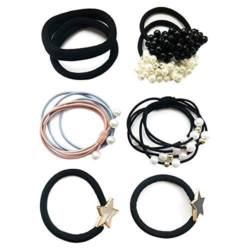 [해외]헤어 고무 10 점 세트 볼륨 펄 헤어 액세서리 액세서리 유행 파티 / Hair Rubber 10 Pieces Set Volume Pearl Hair Accessories Accessories Fashionable Party