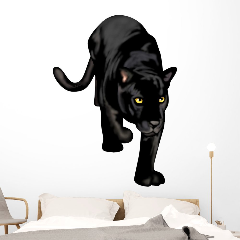 Amazon com wallmonkeys black panther wall decal peel and stick graphic wm102568 24 in h x 18 in w home kitchen