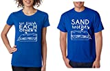 Allntrends Couple T Shirt We Finish Each Other's Sandwiches Love Couple Tops (Womens S Mens S, Royal Blue)