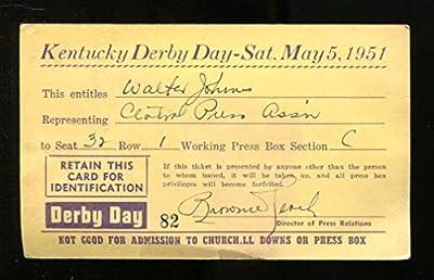1951 Kentucky Derby Press Pass Ticket 5/5/51 Count Turf Ex 23211