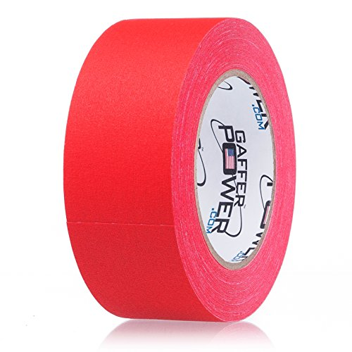 Real Professional Premium Grade Gaffer Tape by Gaffer Power- Made in The USA, RED 2 in X 30 Yards, Heavy Duty Gaffer's Tape - Non-Reflective, Multipurpose, Better Than Duct Tape -