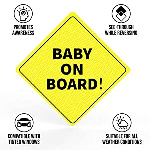 Baby On Board Sticker Sign – Essential for Cars –...