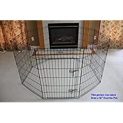 "EliteField 2-Door Soft Pet Playpen, Exercise Pen, Multiple Sizes and Colors Available for Dogs, Cats and Other Pets (62"" x 62"" x 24""H, Black Metal Playpen)"