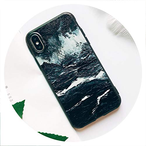 Soft TPU Phone Case for iPhone 6S Case Silicone Black Simple Scrub Back Cover for iPhone 7 6 6S 7Plus XS Max X 8 Case,04,for iPhone 8Plus