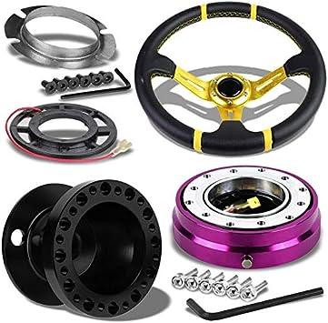 For 1989-1998 Nissan Maxima Purple Aluminum Steering Wheel 6-Hole HUB Adapter