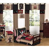Treasure Cove Pirate Toddler Boy Bedding 5 Piece Set
