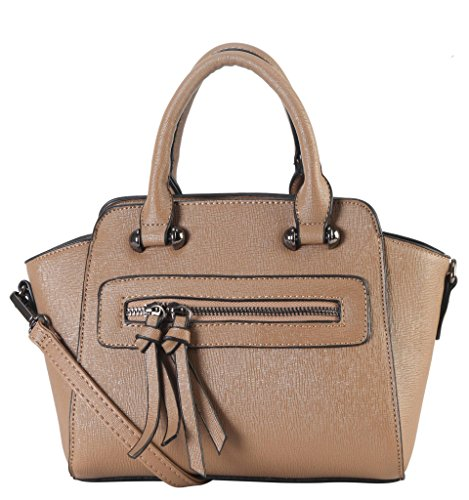diophy-saffiano-pu-leather-front-zipper-pocket-small-trapeze-handbag-womens-purse-with-removable-str