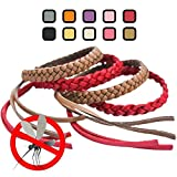 Original Kinven Mosquito Insect Repellent Bracelet Waterproof Natural DEET FREE Insect Repellent Bands, Anti Mosquito Protection Outdoor & Indoor, Adults & Kids, 8 bracelets, in Brown/Red