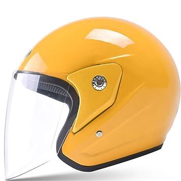 ZJJ Casco- Casco de Moto eléctrico, protección contra la Lluvia y UV Casco Semi