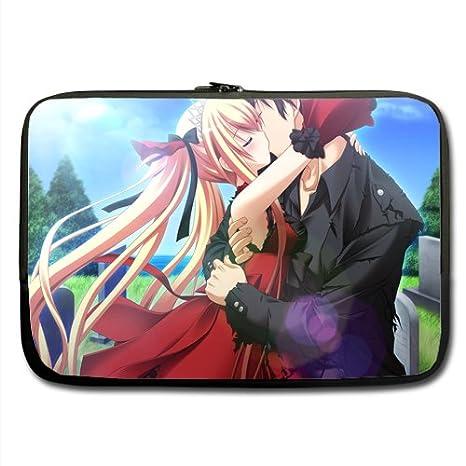 """Anime Kiss camuflaje funda de neopreno para portátil 17 """". Diseñado para cualquier ordenador"""